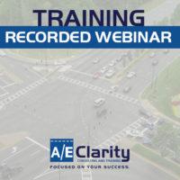 AEClarity – Recorded Webinar Training